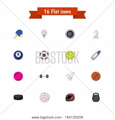 Set Of 16 Editable Active Icons. Includes Symbols Such As Strategic, Darts, Kegling And More. Can Be Used For Web, Mobile, UI And Infographic Design.