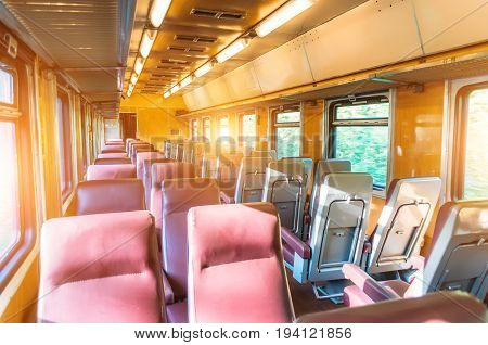 Passenger Seat Train, Concept Trip Movement, The Effect Of Movement Outside The Window
