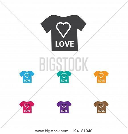 Vector Illustration Of Infant Symbol On T-Shirt Icon. Premium Quality Isolated Blouse Element In Trendy Flat Style.