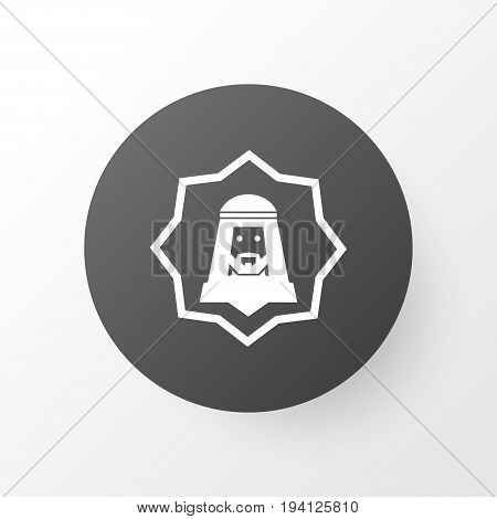 Human Icon Symbol. Premium Quality Isolated Arabian Element In Trendy Style.