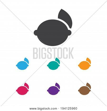 Vector Illustration Of Business Symbol On Lemon Icon. Premium Quality Isolated Lime Element In Trendy Flat Style.