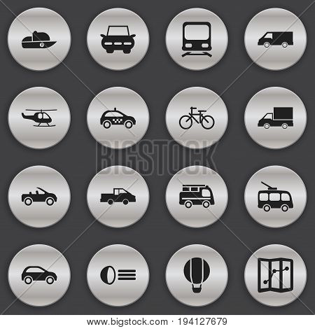 Set Of 16 Editable Shipment Icons. Includes Symbols Such As Travel Pickup, Camion, Luminary And More. Can Be Used For Web, Mobile, UI And Infographic Design.
