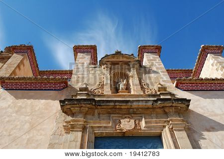 Old spanish church, baroc style in Chulilla - Valencia (Spain)