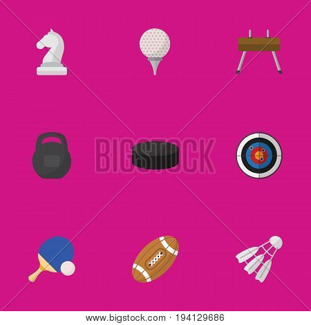 Set Of 9 Editable Sport Icons. Includes Symbols Such As Gir, Badminton, Washer And More. Can Be Used For Web, Mobile, UI And Infographic Design.
