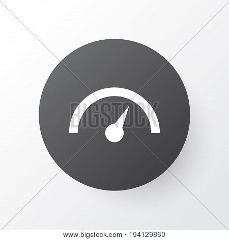 Speedometer Icon Symbol. Premium Quality Isolated Chronometer Element In Trendy Style.