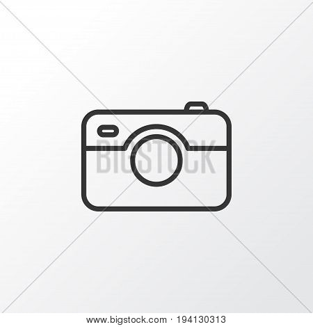 Photographing Icon Symbol. Premium Quality Isolated Photo Apparatus Element In Trendy Style.