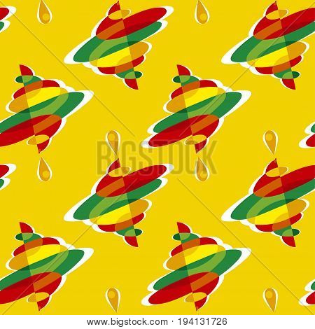 spinning toy sumbol color vector seamless pattern