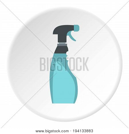Cleaner for windows icon in flat circle isolated vector illustration for web