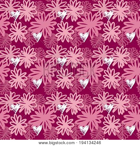 vector seamless pattern of tropical floral vector illustration
