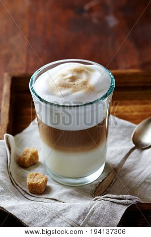 Glass of Latte Macchiato