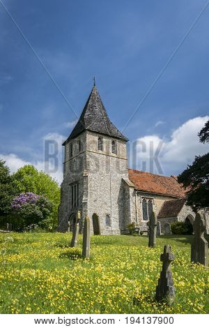 Saint Martin of Tours Church in the village of Detling Kent UK