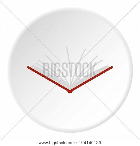 Open tutorial icon in flat circle isolated vector illustration for web