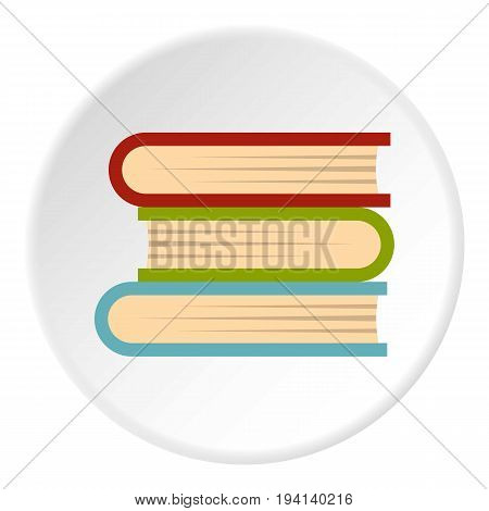 Three tutorial icon in flat circle isolated vector illustration for web