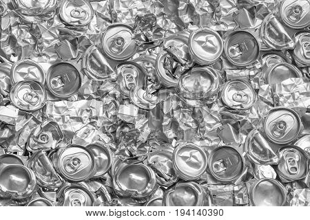 Aluminium recycling is scrap aluminium can be reused in products abstract wallpaper Recycle reuse and reduce concept save the earth Industry background.