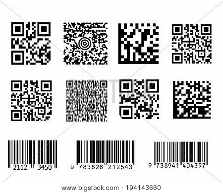 Barcodes vector set on white background great