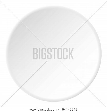 Poison icon in flat circle isolated vector illustration for web