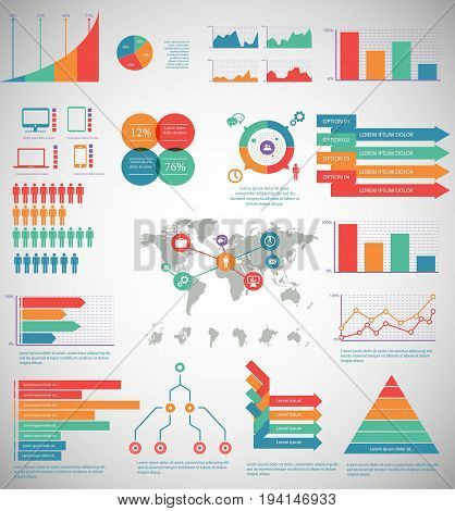 Infographic Elements - process infographics steps and options circle diagram workflow diagrams timeline infographics.