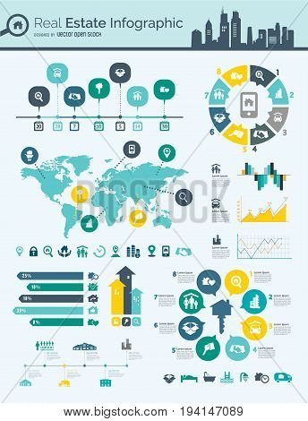 Infographic Elements - process infographics steps and options circle diagram workflow diagrams timeline infographics