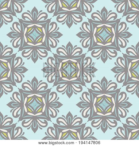 Abstract Luxury Damask seamless tiled ornamental vector pattern for fabric