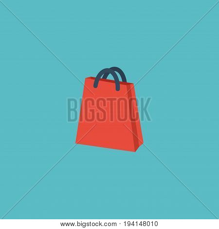 Flat Icon Bag Element. Vector Illustration Of Flat Icon Pouch  Isolated On Clean Background. Can Be Used As Bag, Pouch And Handbag Symbols.