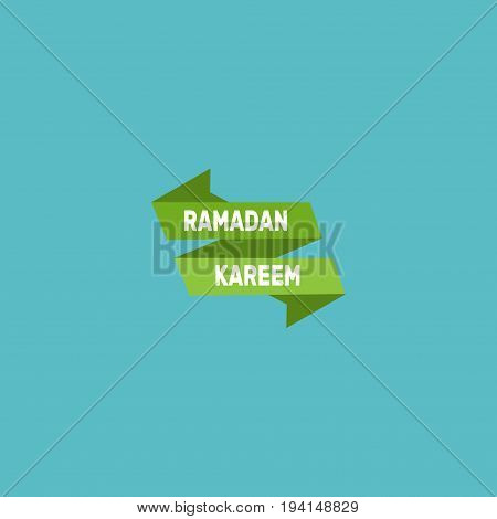 Flat Icon Poster Element. Vector Illustration Of Flat Icon Ramadan Kareem Isolated On Clean Background. Can Be Used As Ramadan, Kareem And Poster Symbols.