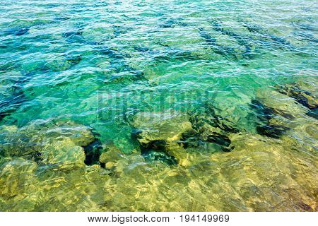 Underwater view of The Coves at Beaver Basin area of Pictured Rocks National Lakeshore near Munising Michigan