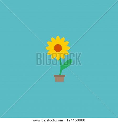 Flat Icon Plant Pot Element. Vector Illustration Of Flat Icon Flowerpot Isolated On Clean Background. Can Be Used As Pot, Flower And Plant Symbols.
