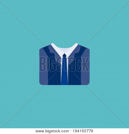 Flat Icon Suit Element. Vector Illustration Of Flat Icon Costume Isolated On Clean Background. Can Be Used As Suit, Costume And Clothes Symbols.