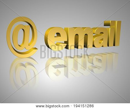 email text With At Symbol 3d Rendered Computer Generated Image