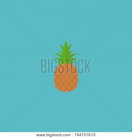 Flat Icon Pineapple Element. Vector Illustration Of Flat Icon Ananas Isolated On Clean Background. Can Be Used As Pineapple, Ananas And Fruit Symbols.