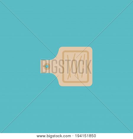 Flat Icon Cutting Board Element. Vector Illustration Of Flat Icon Breadboard Isolated On Clean Background. Can Be Used As Cutting, Board And Breadboard Symbols.