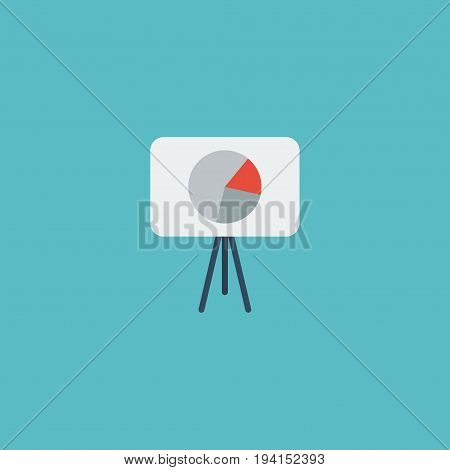 Flat Icon Campaign Element. Vector Illustration Of Flat Icon Statistic Isolated On Clean Background. Can Be Used As Statistics, Campaign And Tripod Symbols.