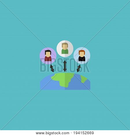 Flat Icon Outsource Element. Vector Illustration Of Flat Icon Administration  Isolated On Clean Background. Can Be Used As Administration, Manager And Outsource Symbols.