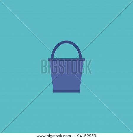 Flat Icon Pail Element. Vector Illustration Of Flat Icon Bucket Isolated On Clean Background. Can Be Used As Pail, Bucketful And Bucket Symbols.