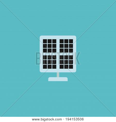 Flat Icon Solar Panel Element. Vector Illustration Of Flat Icon Sun Power Isolated On Clean Background. Can Be Used As Solar, Panel And Photocell Symbols.