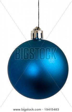 Blue Christmas Ball isoliert auf weißem Hintergrund