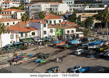 CAMARA DE LOBOS MADEIRA PORTUGAL - SEPTEMBER 5 2016: Camara de Lobos - traditional fishing village situated five kilometres from Funchal on Madeira. Portugal