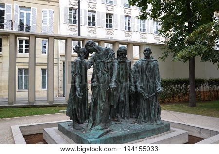 The Burghers Of Calais At The Musee Rodin, Paris