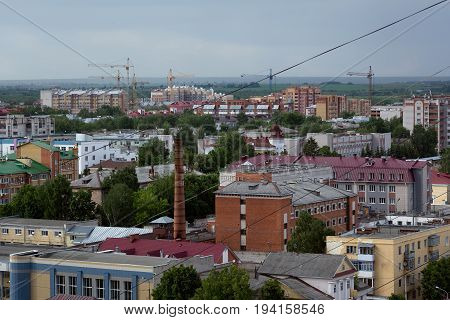 Photo-houses in the city of Yoshkar-Ola Russia
