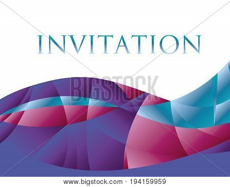 template for invitation or presentation. silk surface concept vector illustration