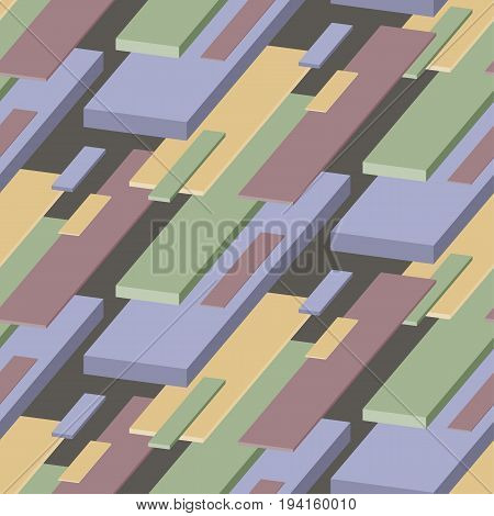 perspective concept pale color pattern. vector illustration of abstract geometry pattern