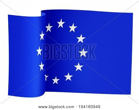 illustration of the European Union flag on a white background