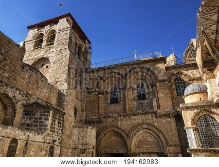 Church of the Holy Sepulchre by day, Jerusalem, Isreal
