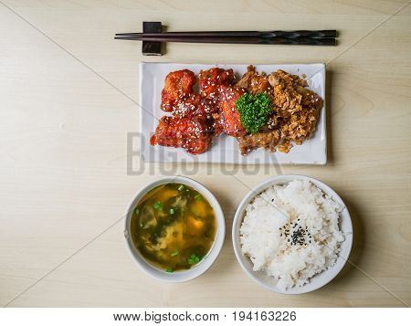 Rib Pork Fried And Rice