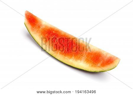 Leftover sweet watermelon rind isolated on white background fruits and vitamin concept.