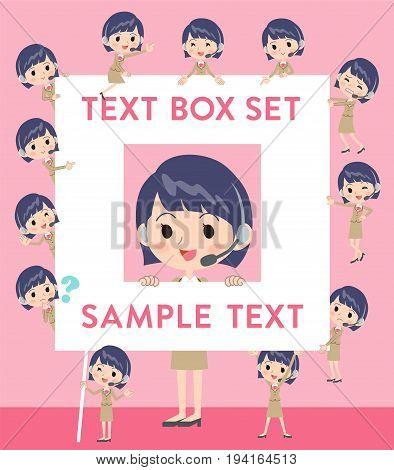 Call Center Woman Text Box