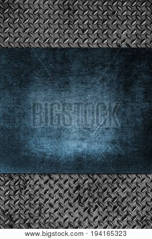 diamond iron plate texture and wood background