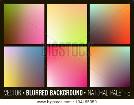 Blurred abstract backgrounds set. Smooth banner template collection. Design for creative decor covers, placards, websites