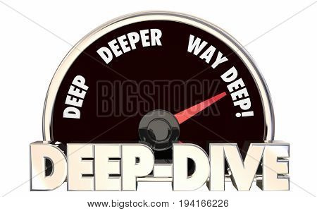 Deep Dive Deeper Details Speedometer Level 3d Illustration