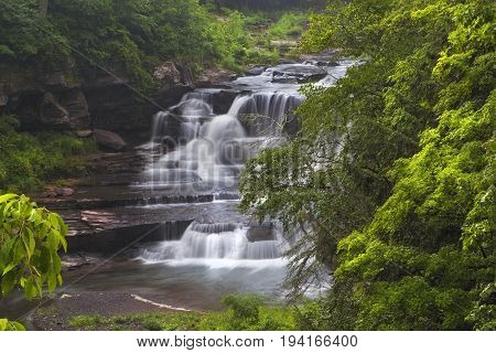 Close Up of Manor Kill Falls In New York